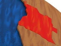 L'Angola sur le globe en bois Image libre de droits