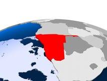 L'Angola sur le globe politique Images libres de droits