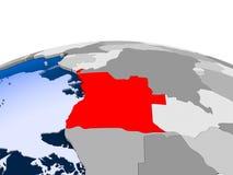 L'Angola sur le globe politique illustration de vecteur