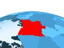 L'Angola sur le globe politique bleu illustration de vecteur