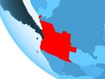 L'Angola sur le globe politique bleu illustration stock