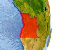L'Angola sur le globe réaliste Photo stock