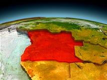 L'Angola sur le modèle de la terre illustration de vecteur