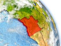 L'Angola sur le modèle de la terre Images stock