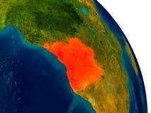 L'Angola sur le modèle de la terre de planète Photo stock