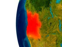 L'Angola sur le modèle de la terre de planète Photographie stock