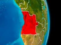L'Angola sur terre Images stock