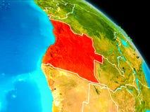 L'Angola sur terre Image libre de droits