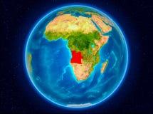 L'Angola sur terre illustration de vecteur