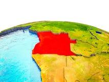 L'Angola sur terre 3D illustration stock