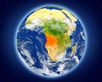 L'Angola sur terre de planète illustration libre de droits
