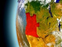 L'Angola sur terre de planète de l'espace illustration de vecteur