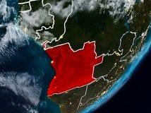 L'Angola sur terre la nuit illustration libre de droits