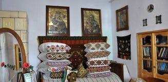 L'angolo del palazzo antico di Lemko Immagini Stock