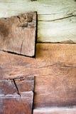L'angolo di vecchia casa di ceppo Fotografia Stock Libera da Diritti