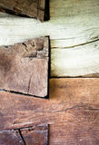L'angolo di vecchia casa di ceppo Immagine Stock Libera da Diritti