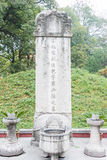 L'ANHUI, CINA - 21 novembre 2015: Tomba di Baogong un sito storico famoso Fotografie Stock