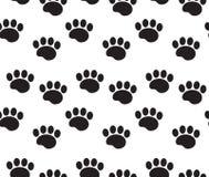 L'animal dépiste le modèle sans couture Les pattes de chien trace répéter la texture, fond sans fin Illustration de vecteur illustration stock