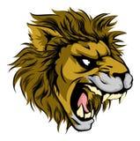 L'animale del leone mette in mostra la mascotte Immagini Stock