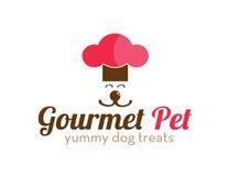 L'animale domestico gastronomico tratta il logo Fotografia Stock