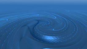 L'animation abstraite avec la géométrie de grille apprête, des lignes et des points banque de vidéos