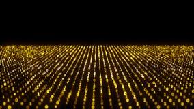 L'animation abstraite du code binaire ondule avec les éléments binaires 1 et 0 et code binaire de mouvement sur le fond animation illustration stock