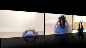 L'animation courante des femmes dynamiques faisant la forme physique s'exerce banque de vidéos