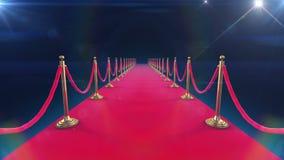 L'animation de déroulement de tapis rouge et l'appareil-photo de paparazzi clignote illustration stock