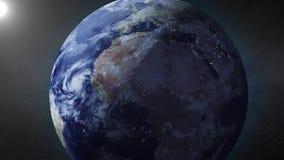 L'animation de la terre bourdonne dedans sur l'Afrique du Nord banque de vidéos
