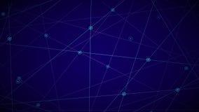L'animation de vol spatial, infographics a stylisé les étoiles de clignotement illustration stock