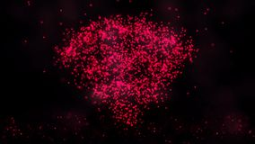 L'animation des particules de clignotement de vol forment un symbole de signe ou d'Internet de wifi sur le fond foncé avec la car Photo stock