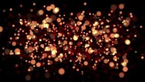 L'animation du résumé a brouillé les étoiles éclatantes d'or avec le bokeh illustration stock
