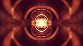 l'animazione del ciclo 3d come fondo della fantascienza delle particelle d'ardore con profondità di campo e il bokeh per vj avvol stock footage