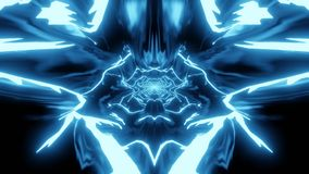 L'anime disegna le forme astratte in blu illustrazione di stock