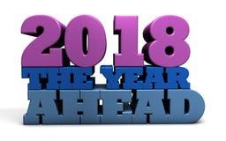 2018 l'année à venir - prévisions et prévisions Illustration Libre de Droits