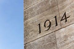 L'année 1914 Images stock