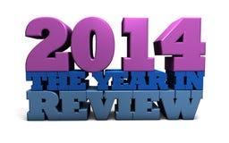 2014 l'année dans l'examen Image libre de droits