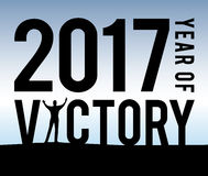 2017 l'année de la victoire illustration de vecteur