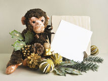2016 - l'année du singe Singe de jouet Image stock