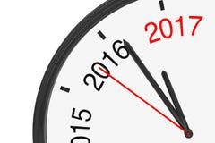 L'année 2017 s'approche Signe 2017 avec une horloge renderi 3D illustration de vecteur