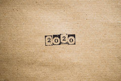 L'année 2020 sur le papier Photo libre de droits