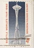 L'annata 1962 ha annullato l'ago dello spazio del bollo degli Stati Uniti Fotografia Stock Libera da Diritti