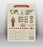 L'annata di alta qualità ha disegnato gli elementi di infographics Immagini Stock Libere da Diritti