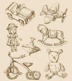 L'annata disegnata a mano gioca l'accumulazione royalty illustrazione gratis