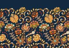 L'annata fiorisce il fondo senza cuciture nello stile della Provenza Modello beige blu di vettore su bianco illustrazione vettoriale