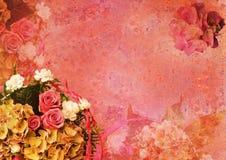 L'annata ha designato il blocco per grafici floreale Fotografie Stock Libere da Diritti