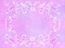 L'annata ha designato il blocco per grafici - orchidee Fotografie Stock
