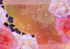 L'annata ha designato il blocco per grafici - rose Immagini Stock