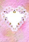 L'annata ha designato il cuore floreale Immagini Stock Libere da Diritti