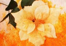 L'annata ha designato il fiore del panno Fotografia Stock Libera da Diritti